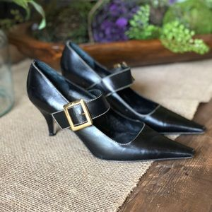 Kate Spade Pointed Toe Buckle Pumps